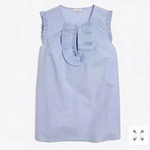 End-on-end ruffle-front tank top NWT sz 8 j-crew